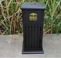廠家直銷戶外公園垃圾桶鋼結構戶外垃圾桶果殼箱 2