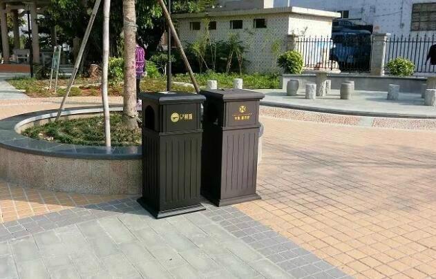廠家直銷戶外公園垃圾桶鋼結構戶外垃圾桶果殼箱 3