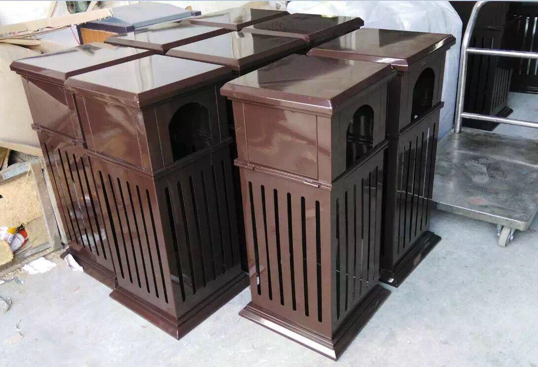 廠家直銷戶外公園垃圾桶鋼結構戶外垃圾桶果殼箱 4
