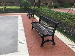 戶外公園椅休閑椅鐵藝休閑椅小區園林公共區域休閑凳廠家直銷