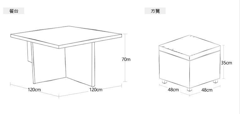 度帆陽台戶外沙發簡約現代客庭院廳臥室美式歐式藤沙發組合 1