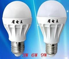 12瓦 5200K LED全塑 球泡灯