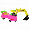 Twist car with excavator arm swing car Shovel car from being  toy cars
