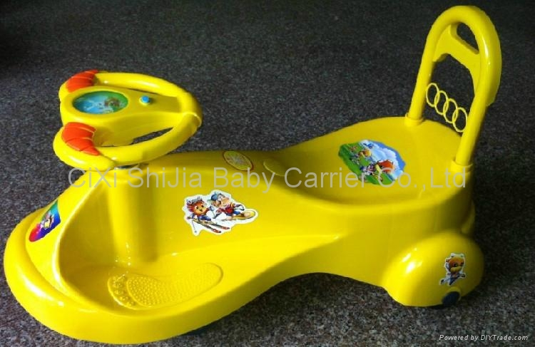 Children's entertainment fitness car from being music swing baby car 1