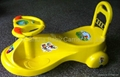 Children's entertainment fitness car from being music swing baby car