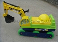 Children simulation excavator toy with