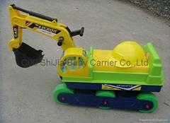 儿童仿真挖土機玩具 帶音樂燈光 加大款