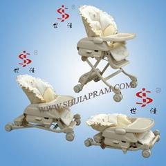 多功能嬰儿車 推車 餐桌 搖椅 嬰儿床