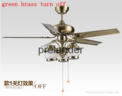 "48"" Metal ceiling fan with 3pcs light"