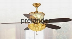 "Indoor decorative 52""ceiling fan with light"