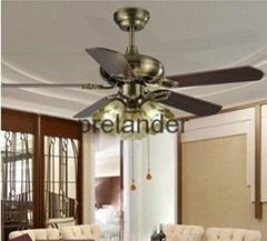 Decorative 42inch ceiling fan light.