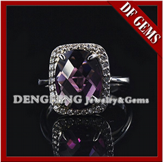 AAAAA Grade Amethyst CZ Ring,925 Sterling Silver Jewelry Wholesale