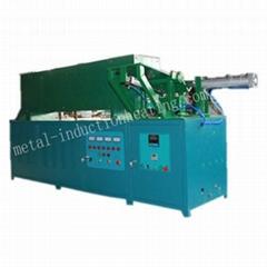 Horizontal medium frequency induction heating furnace