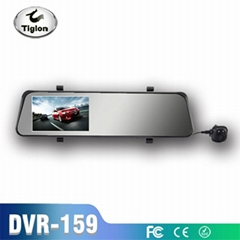 dual lens car dvr with rearview mirror car camera reversing car dvr