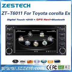 6.2'' car gps navigation for Toyota Corolla ex UNIVERSAL touch screen car stereo