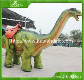 自贡嘉华电动仿真骑行恐龙 3