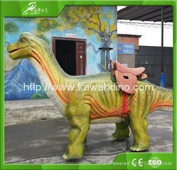 自贡嘉华电动仿真骑行恐龙 2