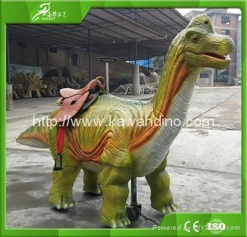 自贡嘉华电动仿真骑行恐龙 5