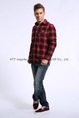 2015 Winter Men's Long Sleeved Plaid Shirt