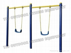 outdoor playground equipment for children Double-unit Chrildrens Swing