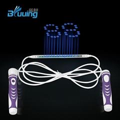 Unique high quality smart electronic LED digital count skipping jump rope