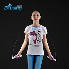 Unique kids led flash skipping rope light counting in the air glow jump rope
