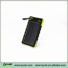 Rainproof 8000mAh Solar Portable Power For iPhone 6 plus | iPad Air 2