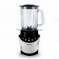 500W 1.8L full copper motor 2 in 1 blender with clear glass jar