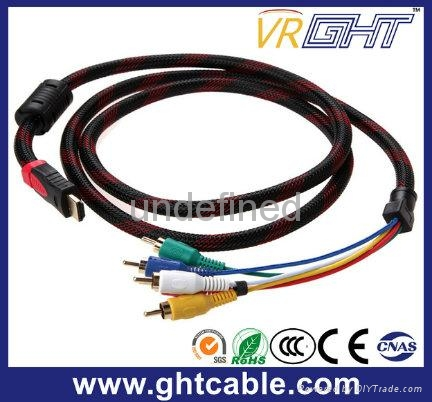 High Quality 3RCA to HDMI Male to Male AV Cable 2