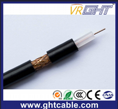 Black PVC Coaxial Cable RG6 75ohm