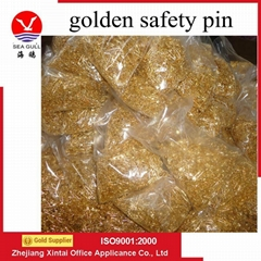 wholesale clothes pin gold safety pin for hangtags