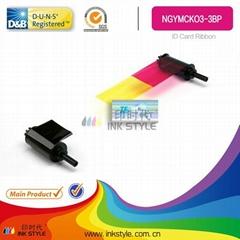 compatible for NISCA NGYMCKOK2 YMCKOK Color Compatible Ribbon - 210 prints/roll