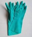 green nitrile glove