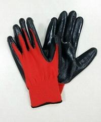 Nylon with Nitrile coated glove