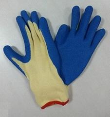 Latex coated glove T/C shell