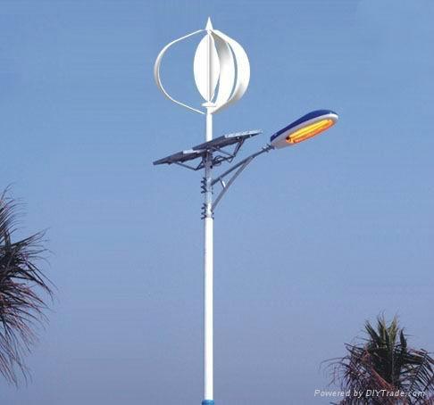 Vertical Axis Wind Turbine and Solar Hybrid Street Lights 1