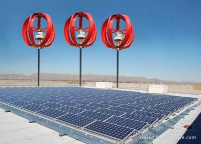 Vertical Axis Wind Turbine & Solar Hybrid Power Systems 1