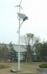 Horizontal Axis Wind and Solar Hybrid Street Light