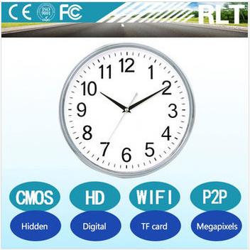720P HD wifi hidden camera P2P hidden wall clock camera support TF card 4