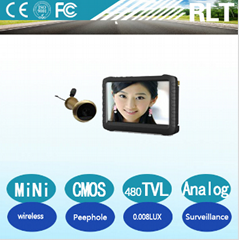 CMOS Home Security video camera wireless 5-inch screen Motion Detection DVR