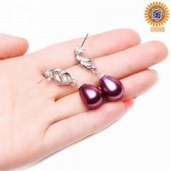 China wholesale fashion shell pearl earrings