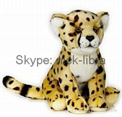 10 Inches Floppy Cheetah(Realistic plush / soft toys, stuffed animal)