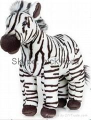 10 Inches Standing Zebra(Realistic plush / soft toys, stuffed animal)