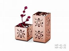 創意不鏽鋼花盆 字母形花瓶