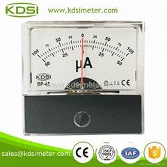 2015 new model China Supplier BP-45 DC+-100uA panel analog ammeter