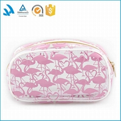 China Professional Customized Polyester handle bag fashion cosmetic bag