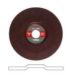 Depressed center grinding wheel for metal and stainless steel
