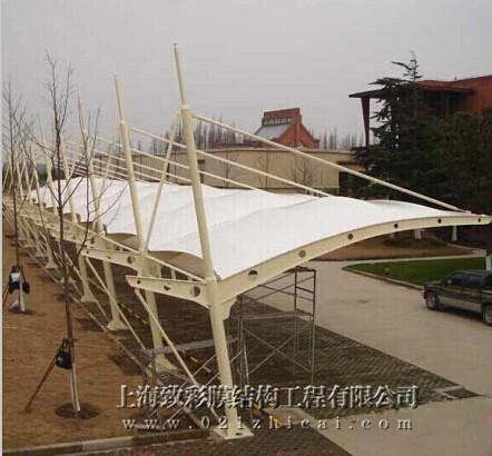 膜结构自行车棚 2