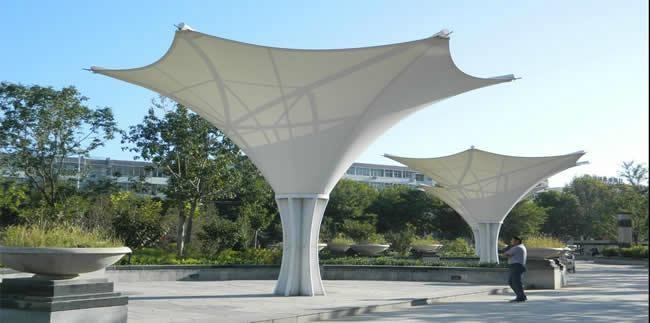 膜结构景观棚 2