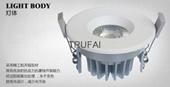 8W LED Down Lights with SHARP COB CE ROHS approved